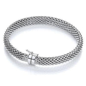 Sterling Silver Mens Mesh Bracelet - Pobjoy Diamonds