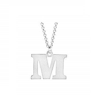 Sterling Silver Initial Pendant & Neck Chain - Pobjoy Diamonds