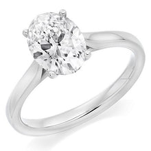 Load image into Gallery viewer, 18K White Gold 1.59 Carat Oval Cut Diamond Solitaire Ring G/VS1
