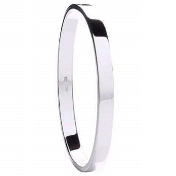 Sterling Silver Ladies Hinged Bangle
