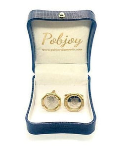 Platinum & 18K gold Coin Style Cufflinks By Pobjoy