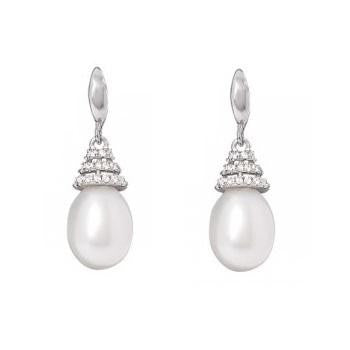 Freshwater Cultured Pear Pearl Drop Earrings - Pobjoy Diamonds
