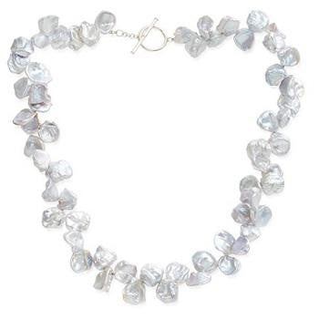 Keshi Silver Grey Large Cultured Pearl Ladies Necklace - Pobjoy Diamonds