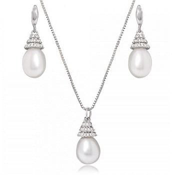 Freshwater Cultured Pearl Pendant Necklace & Earrings Set - Pobjoy Diamonds