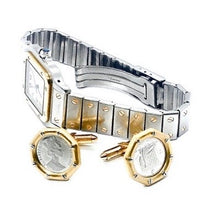 Load image into Gallery viewer, 18K Gold & Platinum Coin Cufflinks