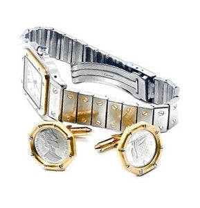18K Gold & Platinum Coin Cufflinks
