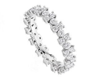 950 Platinum 1.50 CTW Round Cut Diamond Full Eternity Ring-Pobjoy Diamonds