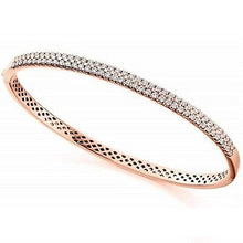 Load image into Gallery viewer, 18K Rose Gold 1.75 CTW Diamond Bangle F/VS