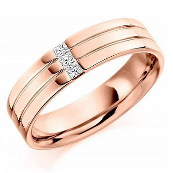 18K Rose Gold & 0.15 CTW Diamond Gents Ring F-G/VS