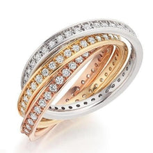 Load image into Gallery viewer, 18K Russian Gold & Diamond 1.50 CTW Fully Eternity Ring - Pobjoy Diamonds