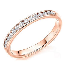 Load image into Gallery viewer, 18K Rose Gold Half 0.3 CTW Diamond Eternity Ring