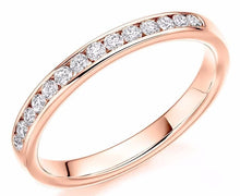 Load image into Gallery viewer, 18K Rose Gold Half 0.3 CTW Diamond Eternity Ring - Pobjoy Diamonds