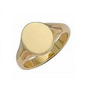Gents 9K Yellow Gold Oval Signet Ring