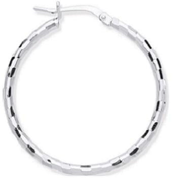 Silver 25mm Hoop Earrings