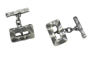 Sterling Silver Stressed Chain Cufflinks