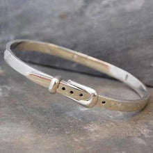 Load image into Gallery viewer, Handmade Sterling Silver Ladies Buckle Bangle