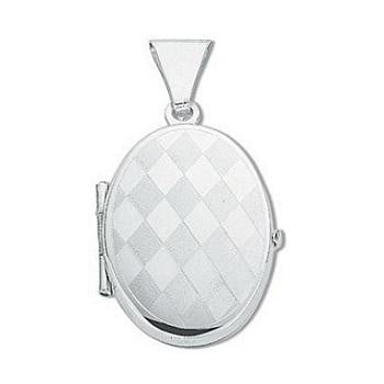 Silver Harlequin Locket - Pobjoy Diamonds