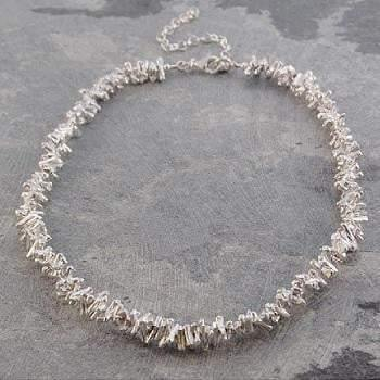 Handmade Silver Ladies Coral Style Necklace - Pobjoy Diamonds