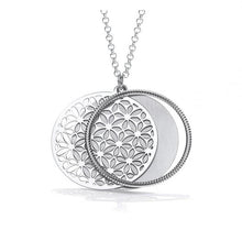 Load image into Gallery viewer, Sterling Silver Round Filigree Ladies Pendant & Necklace-Pobjoy