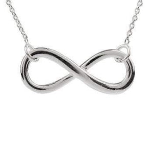 Sterling Silver Infinity Pendant & Necklace Pobjoy