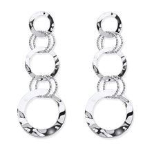 Load image into Gallery viewer, Sterling Silver Ladies Multi Circle Linked Earrings-Pobjoy Diamonds