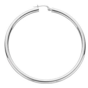 Large Silver Ladies Hoop Earrings