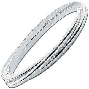 Ladies Sterling Silver Russian Wedding Bangle - Pobjoy Diamonds