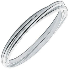 Load image into Gallery viewer, Ladies Sterling Silver Russian Wedding Bangle - Pobjoy Diamonds