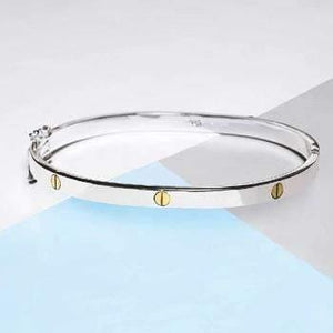 Handmade Silver Hinged Bangle - Pobjoy Diamonds