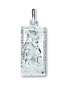 Pobjoy Sterling Silver Rectangle St Christopher