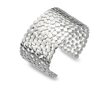 Load image into Gallery viewer, Sterling Silver Lattice & Shapes Wide Bangle