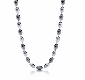 Silver & Ruthenium Bead Necklace - Pobjoy Diamonds