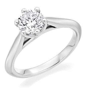 950 Platinum 3.00 Carat Round Brilliant Cut Solitaire Diamond Ring F/VS1-Bellagio - Pobjoy Diamonds