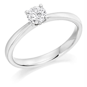 18K White Gold 0.40 carat Round Brilliant Cut Solitaire Diamond Ring G/VS2-Lambourn