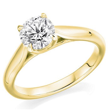 18K Yellow Gold 1.50 Carat Solitaire Diamond Ring F/VS2 - Avignon
