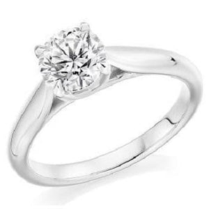 18K White Gold 1.25 Carat Solitaire Diamond Ring - F/VS2 - Avignon - Pobjoy Diamonds