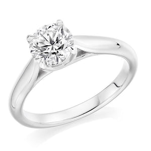 950 Platinum 1.25 Carat Solitaire Diamond Ring F/VS2 - Avignon - Pobjoy Diamonds