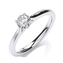 Load image into Gallery viewer, 18K White Gold 0.40 Carat Round Brilliant Cut Solitaire Diamond Ring G/VS1-Pobjoy Diamonds