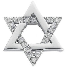 Load image into Gallery viewer, 9K White Gold Diamond Star Of David Pendant 0.10 CTW - Pobjoy Diamonds