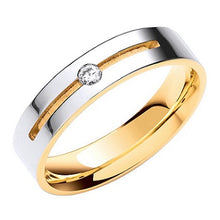 Load image into Gallery viewer, 18K Or 9K White & Yellow Gold Flat Court Diamond Wedding Band