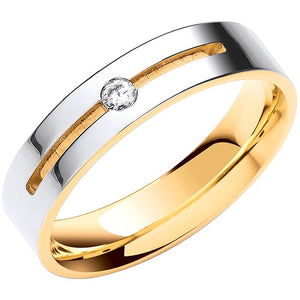 18K Or 9K White & Yellow Gold Flat Court Diamond Wedding Band-Pobjoy Diamonds