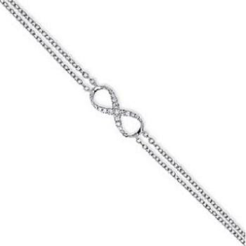 9K White Gold Infinity DIamond Bracelet - Pobjoy Diamonds