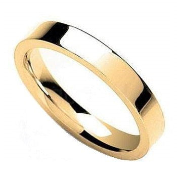 Flat Court Wedding Band In 18K Gold or 950 Platinum. Select Width 2mm-7mm