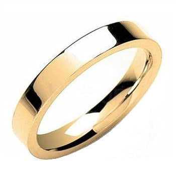Matching 9K Yellow Gold His & Hers Flat Court 3mm Wedding Rings SPECIAL OFFER