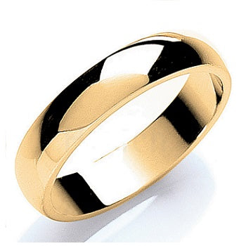 D-Shape Wedding Band In 18K Gold Or Platinum. Select Width 2mm-7mm