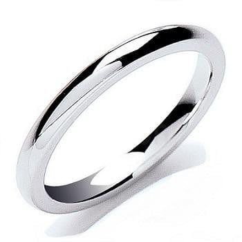 950 Platinum Court Shaped 3mm Wedding Band - Pobjoy Diamonds