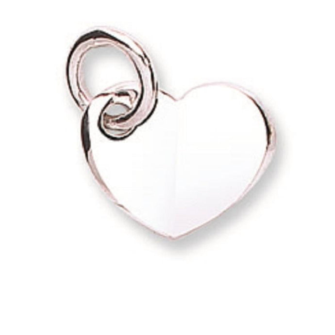 White  Gold Love Heart Pendant & Chain - Pobjoy Diamonds
