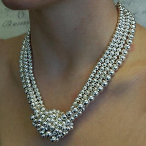 925 Sterling Silver Knotted Necklace - Pobjoy Diamonds