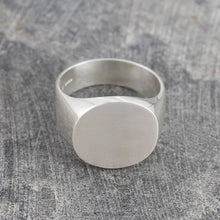 Load image into Gallery viewer, Handmade Silver Round Signet Ring - Pobjoy Diamonds