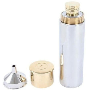 Steel 'Gun Cartridge' Hip Flask - Pobjoy Diamonds